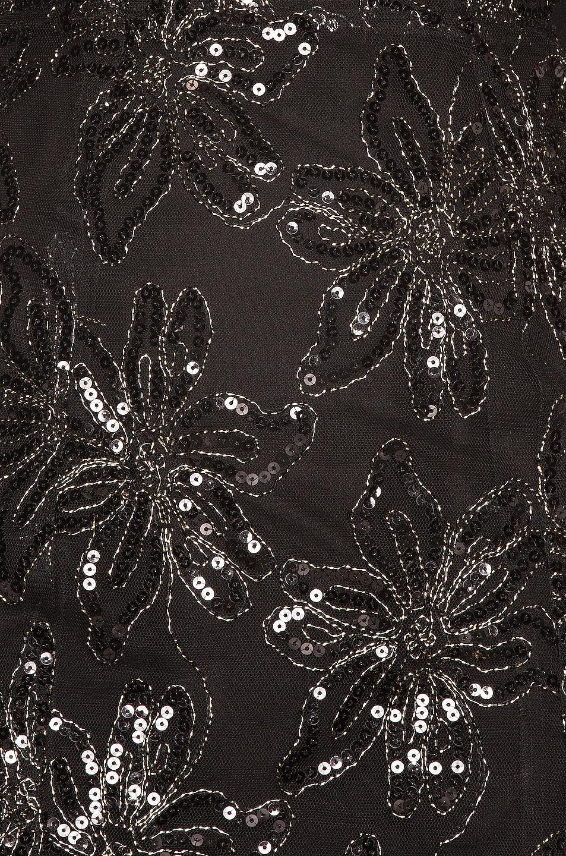 Image 4 of ROTATE Sequin Embellished Puff Shoulder Mini Dress in Black