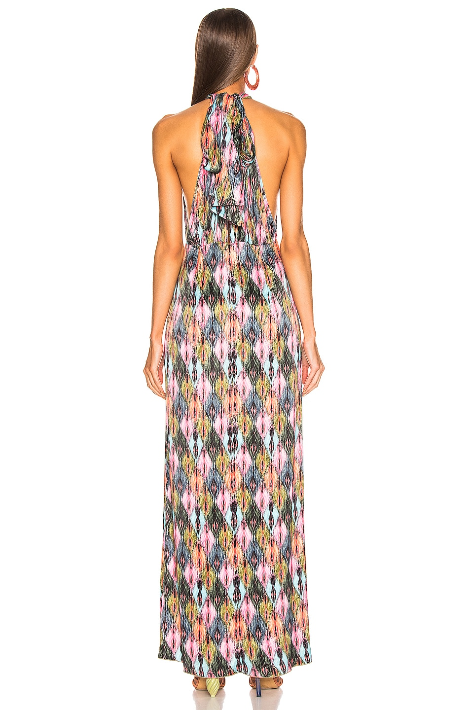 Image 3 of ROTATE Halter Style High Slit Maxi Dress in Print