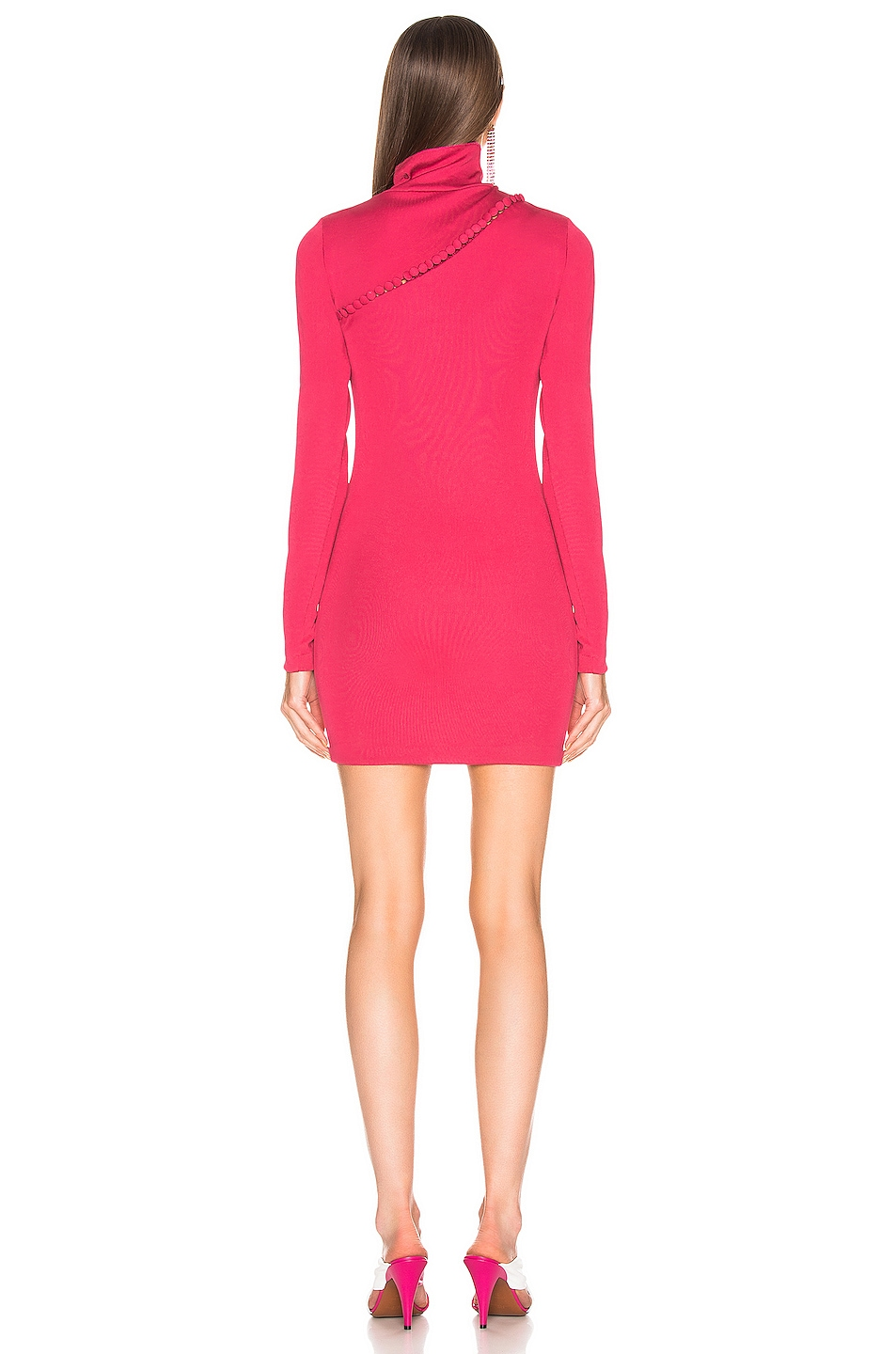 Image 3 of ROTATE Long Sleeve Turtleneck Mini Dress in Pink