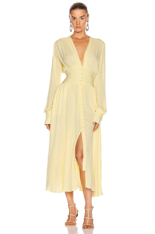 Image 1 of ROTATE Tracy Long Dress in Lemonade