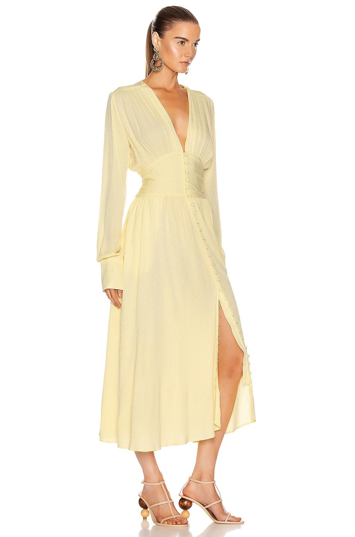Image 2 of ROTATE Tracy Long Dress in Lemonade