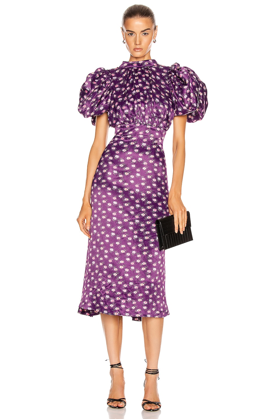 Image 1 of ROTATE Dawn Dress in Pansy Print