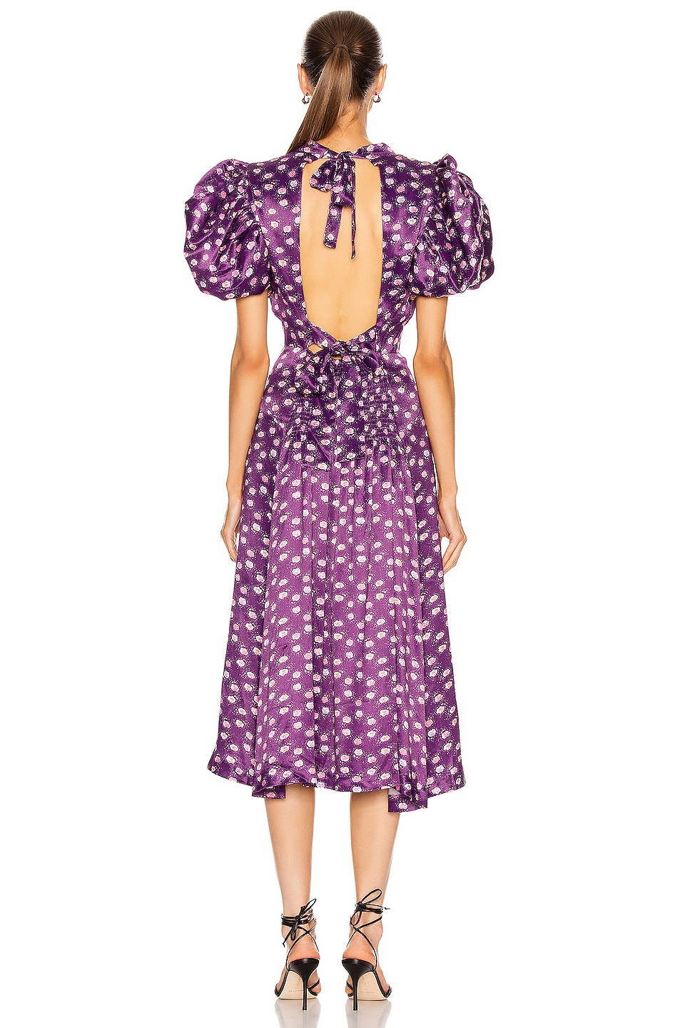 Image 3 of ROTATE Dawn Dress in Pansy Print