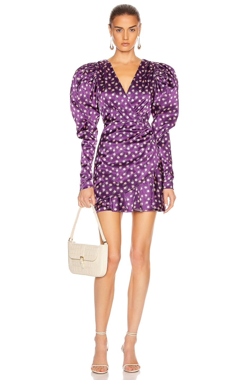 Image 1 of ROTATE Aiken Dress in Pansy Print