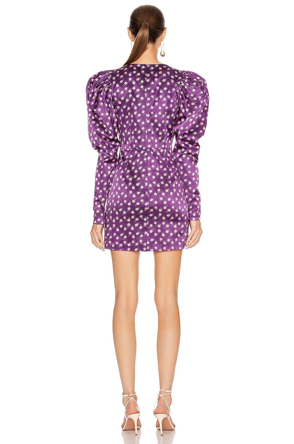 Image 3 of ROTATE Aiken Dress in Pansy Print