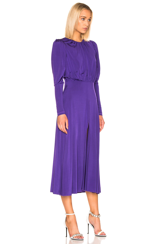 Image 2 of ROTATE Long Sleeve Slit Dress in Prism Violet