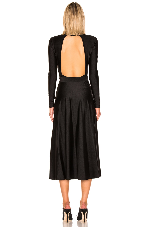 Image 4 of ROTATE Tie Long Sleeve Dress in Black