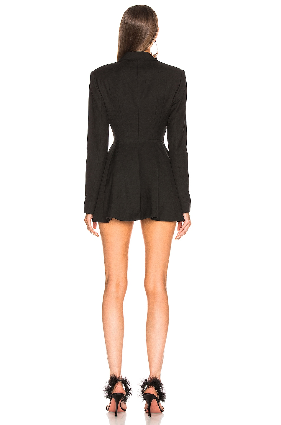 Image 3 of ROTATE Double Breasted Mini Blazer Dress in Black