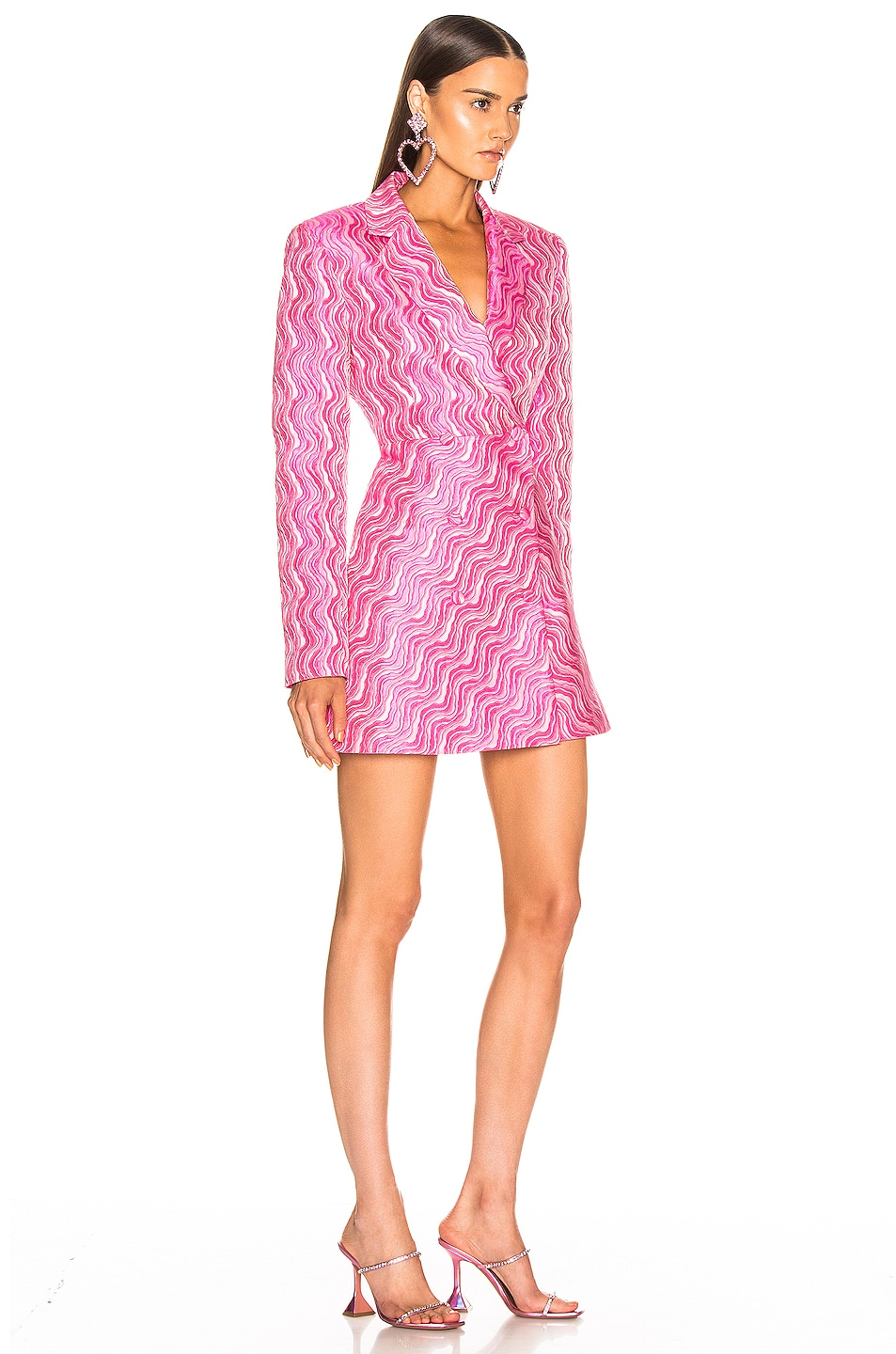Image 2 of ROTATE Double Breasted Mini Blazer Dress in Pink Carnation