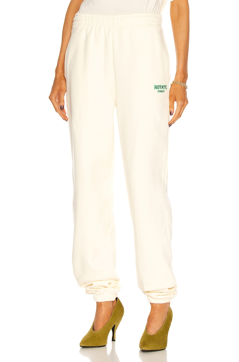 Image 1 of ROTATE SUNDAY Mimi Sweatpant in Winter White