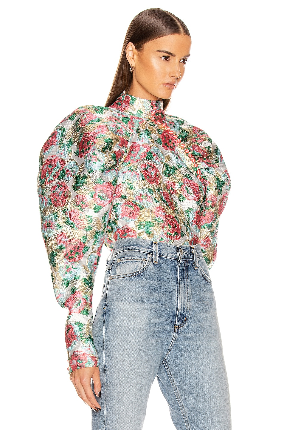 Image 2 of ROTATE Kim Floral Top in Morning Glory