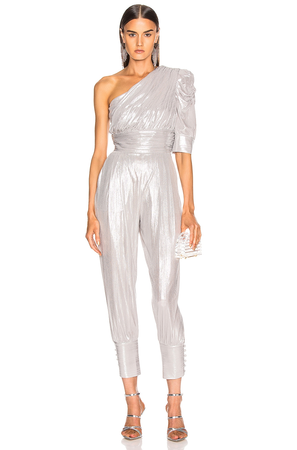Image 1 of retrofete Thambi Jumpsuit in Silver