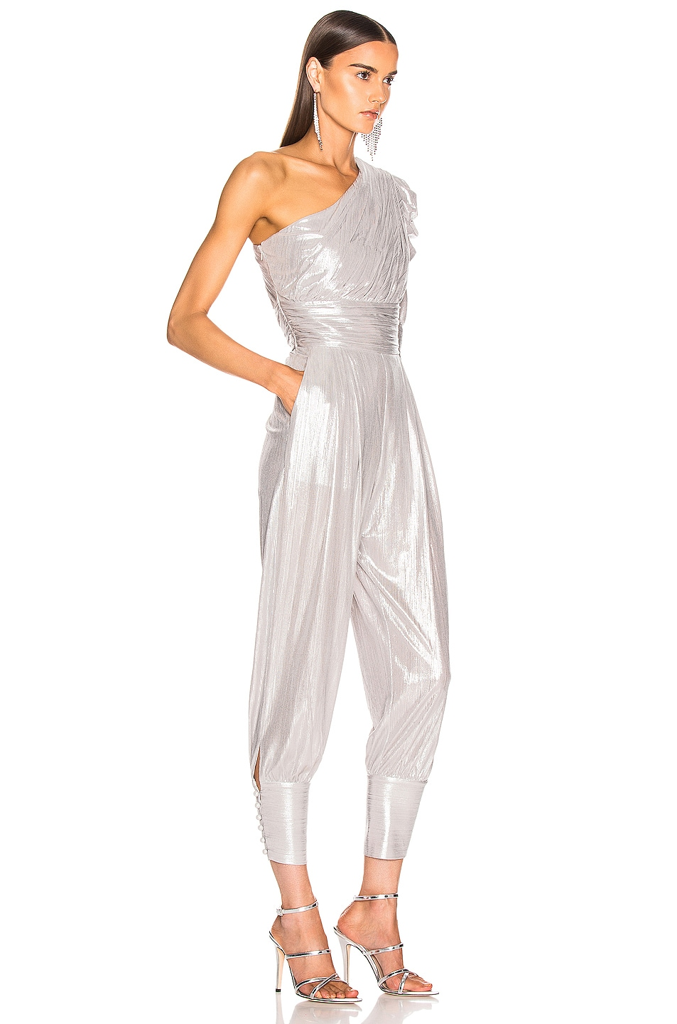 Image 2 of retrofete Thambi Jumpsuit in Silver