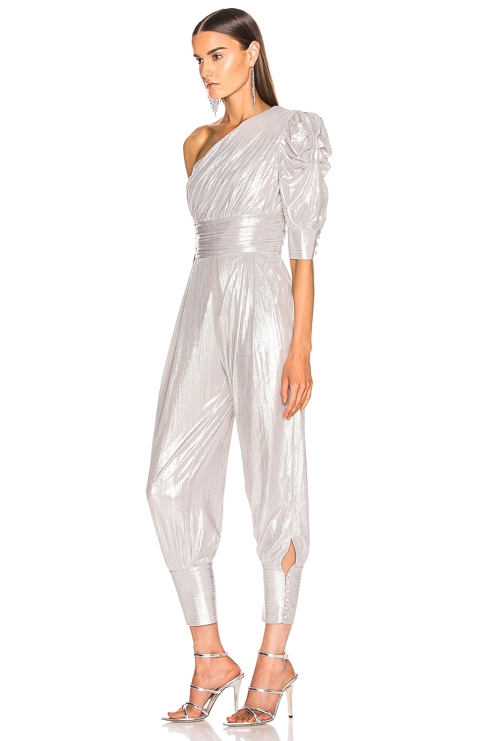 Image 3 of retrofete Thambi Jumpsuit in Silver