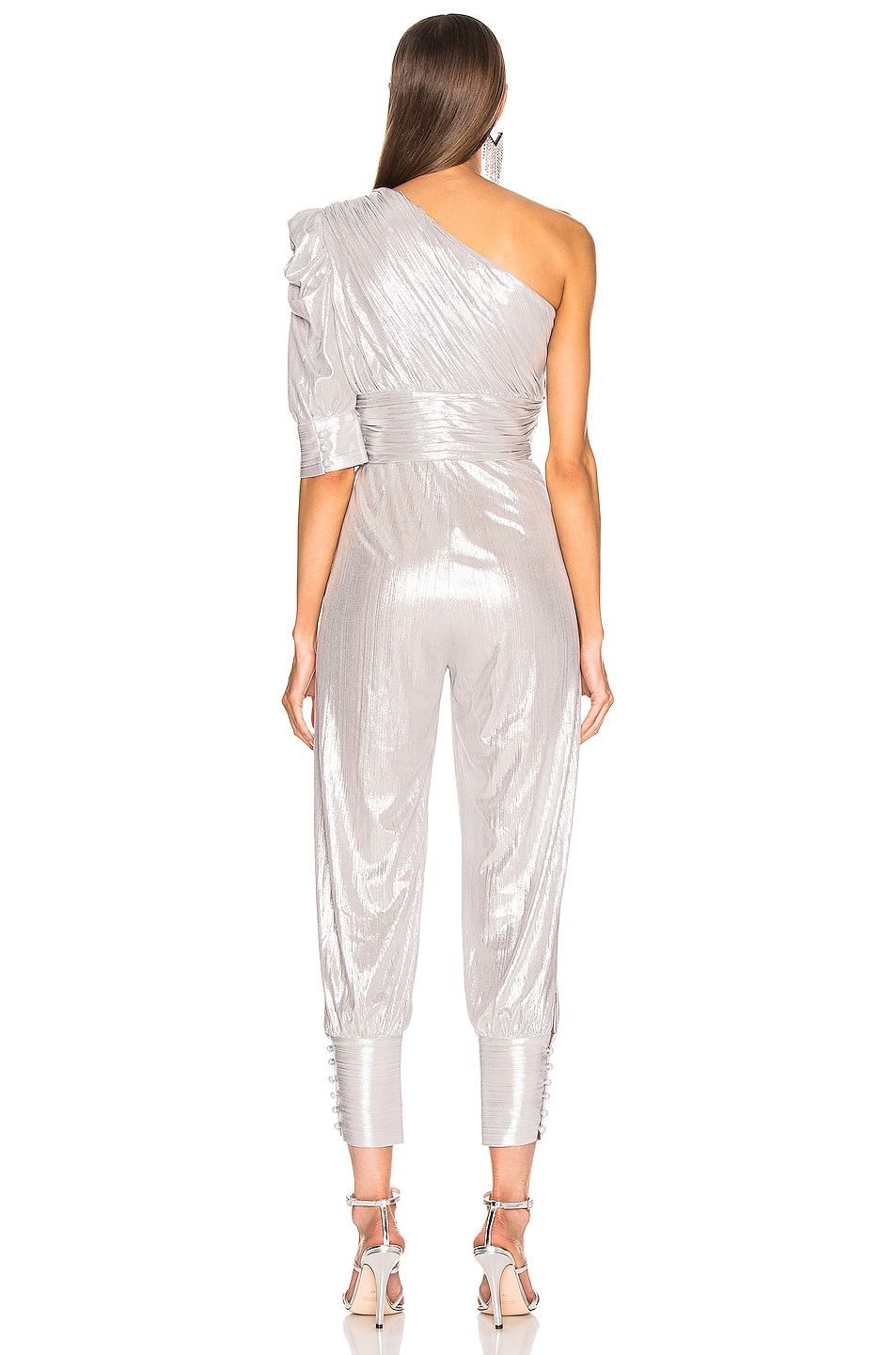 Image 4 of retrofete Thambi Jumpsuit in Silver