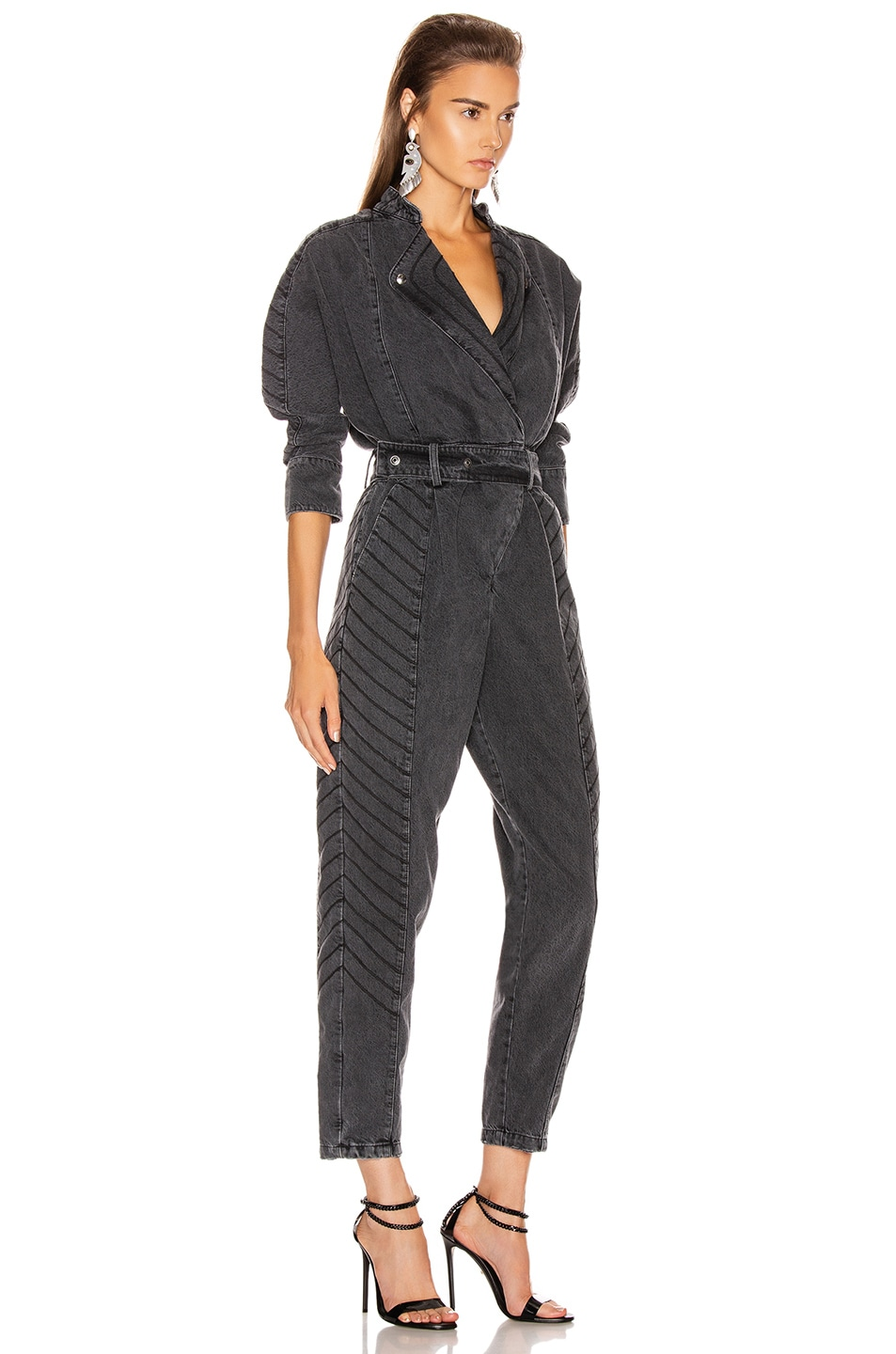 Image 2 of retrofete Milla Jumpsuit in Black Vintage