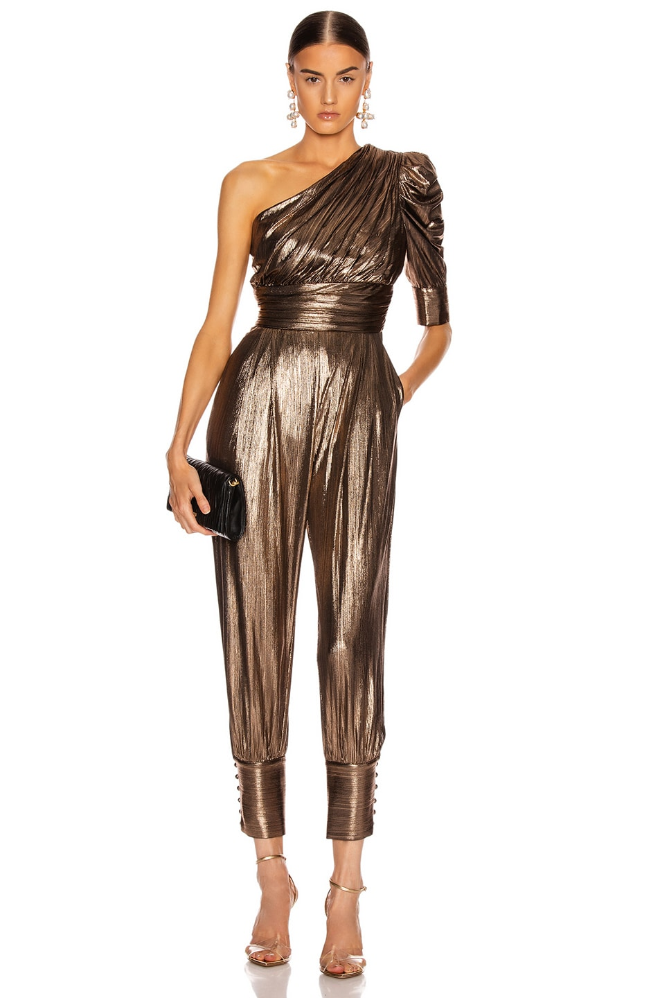 Image 1 of retrofete for FWRD Thambi Jumpsuit in Bronze