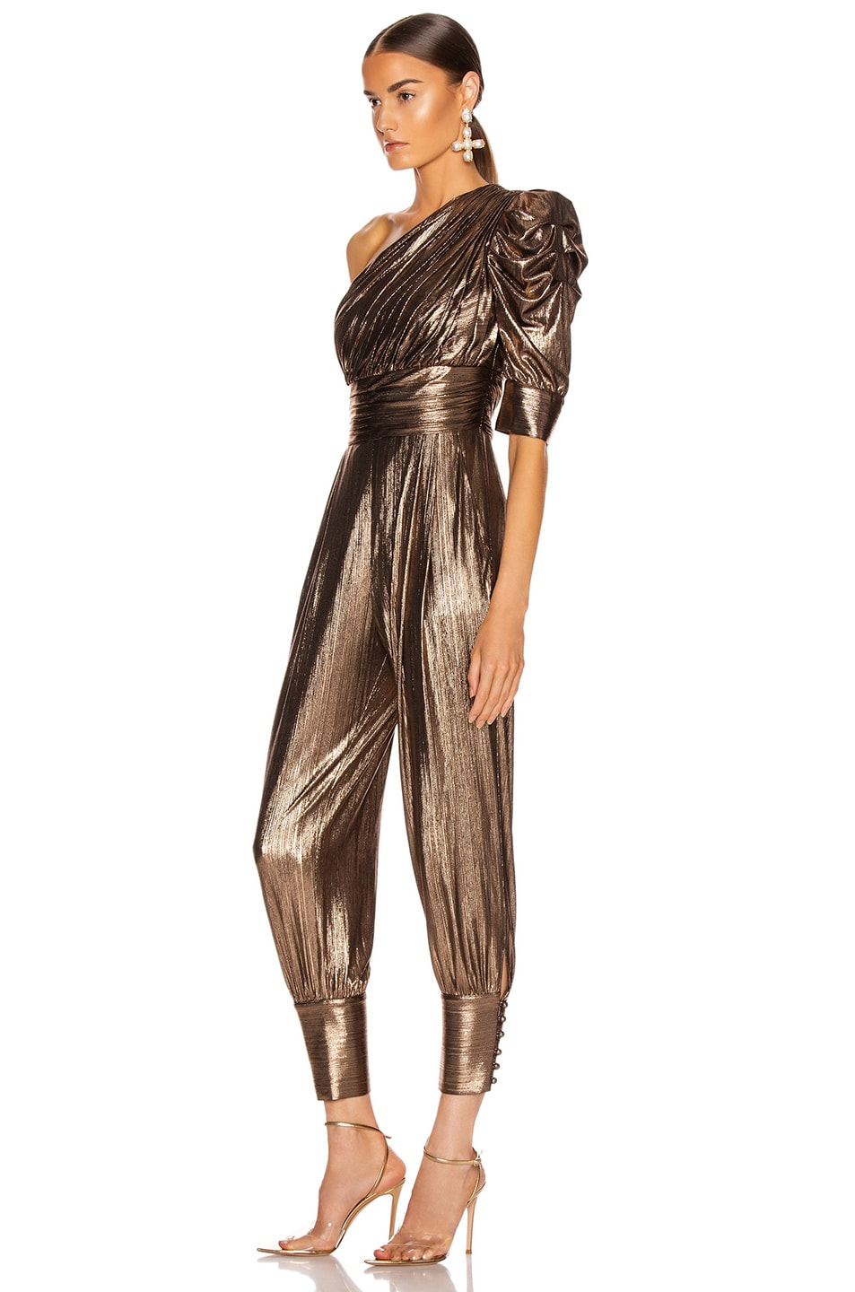 Image 3 of retrofete for FWRD Thambi Jumpsuit in Bronze