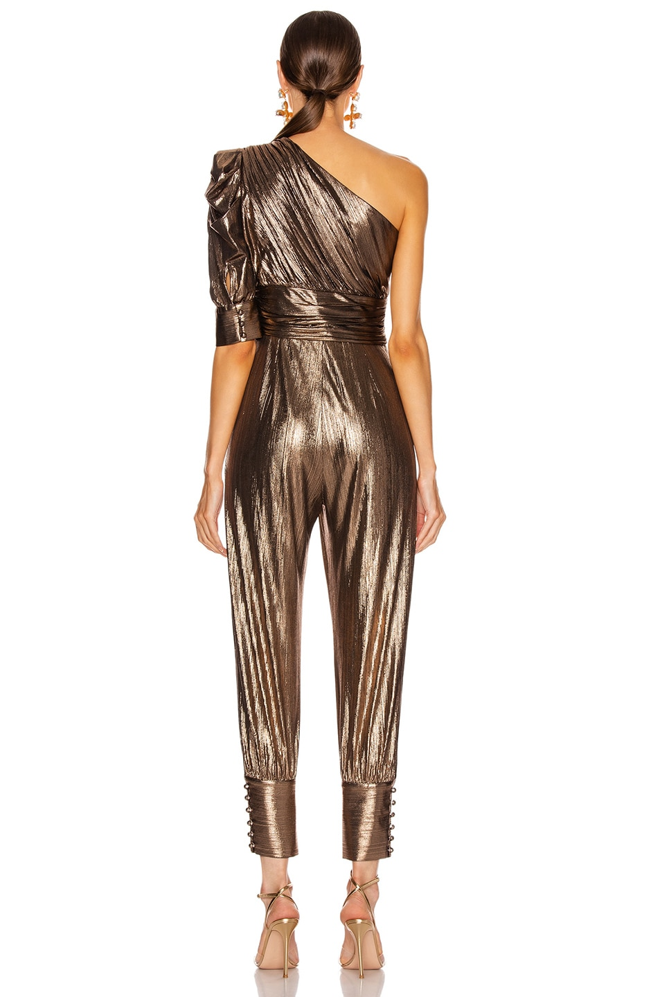 Image 4 of retrofete for FWRD Thambi Jumpsuit in Bronze