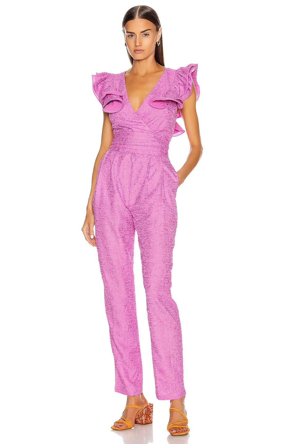 Image 1 of retrofete Shelley Jumpsuit in Pink
