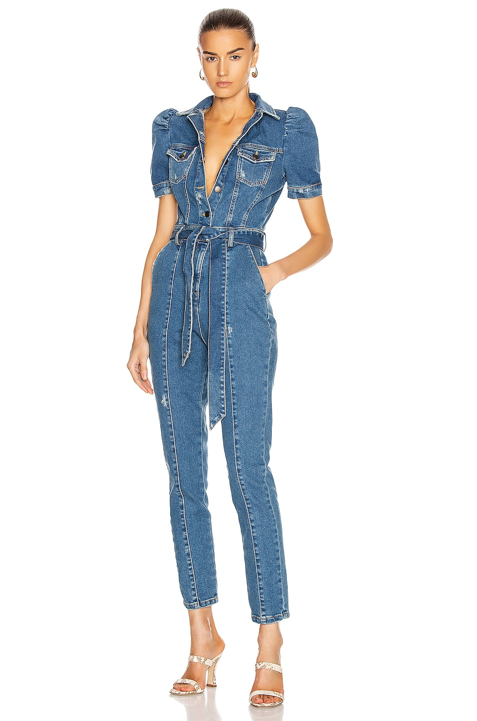 Image 1 of retrofete Tori Jumpsuit in Blue