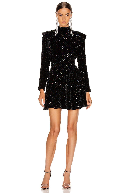 Image 1 of retrofete Francesca Dress in Black Multi