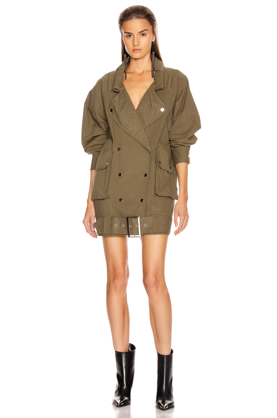 Image 1 of retrofete Jane Jacket Dress in Army Green