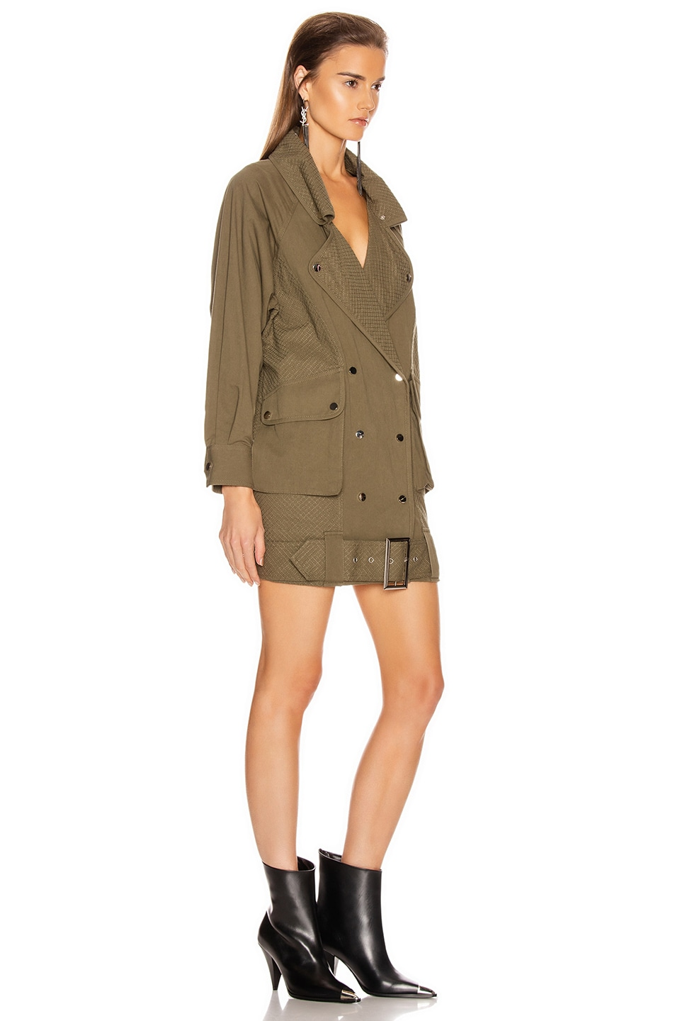 Image 2 of retrofete Jane Jacket Dress in Army Green