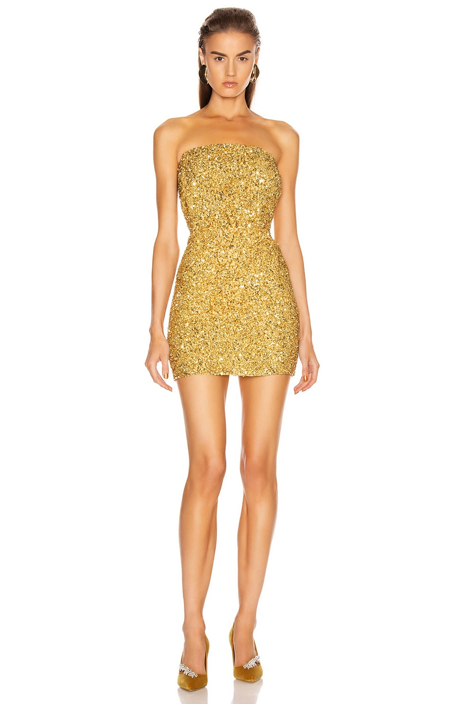 Image 1 of retrofete Heather Dress in Gold