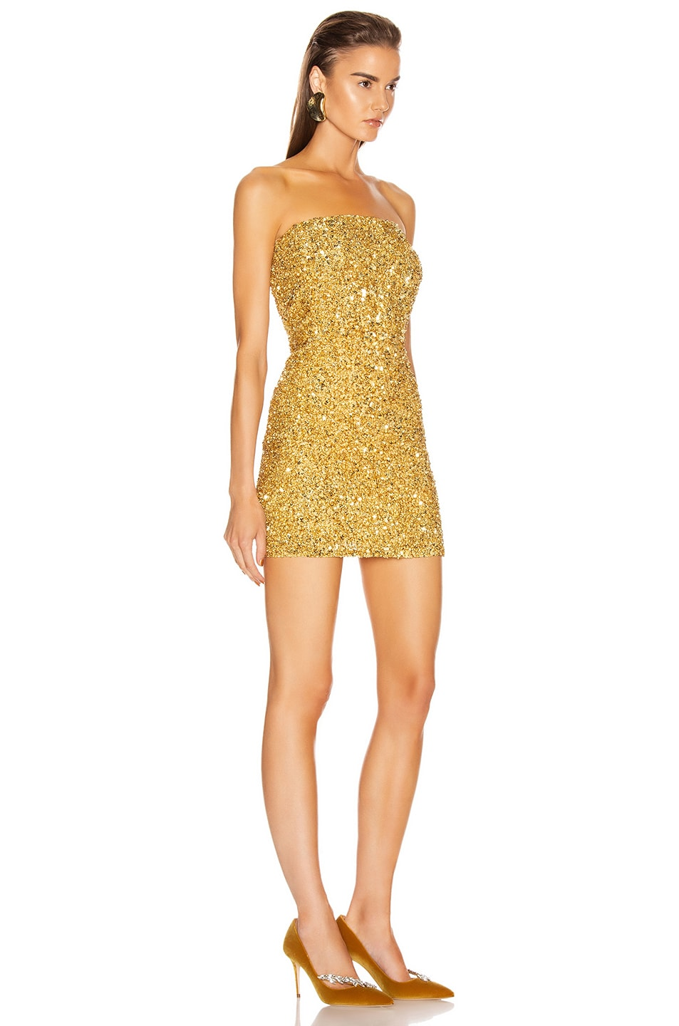 Image 2 of retrofete Heather Dress in Gold