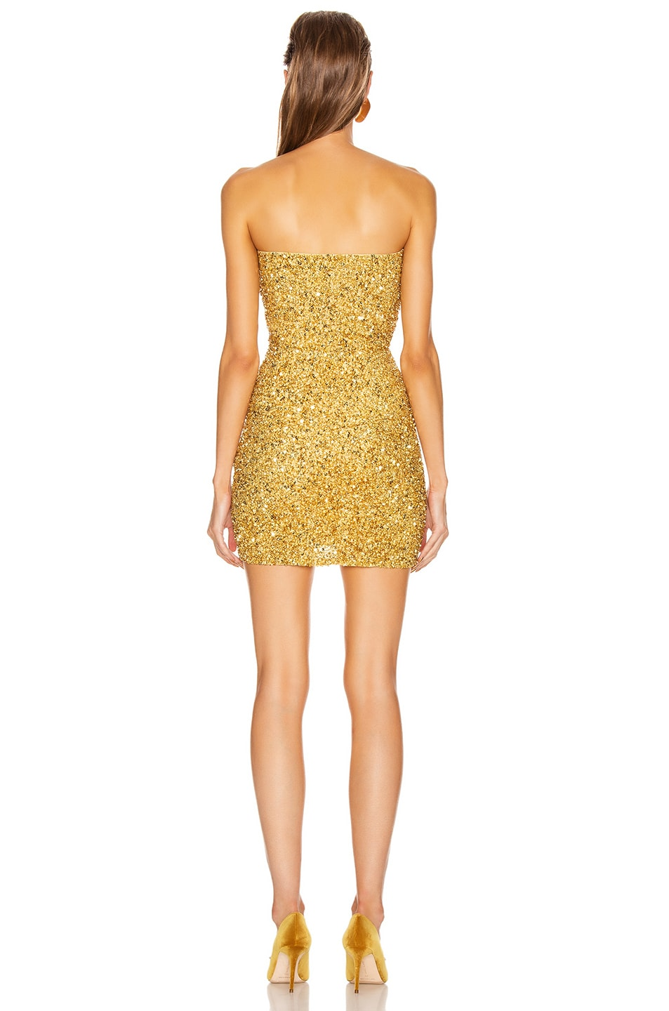 Image 3 of retrofete Heather Dress in Gold