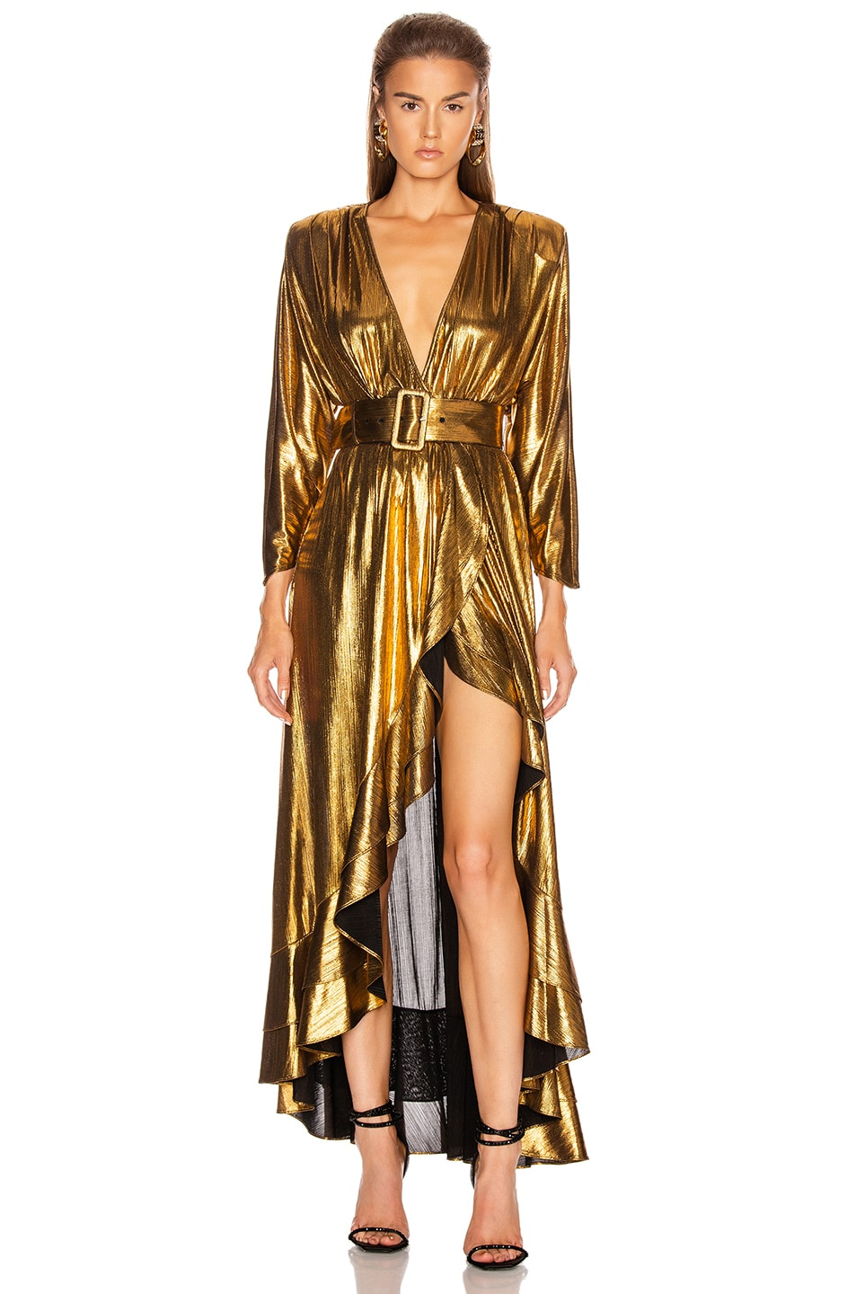 Image 1 of retrofete Wayne Dress in Gold