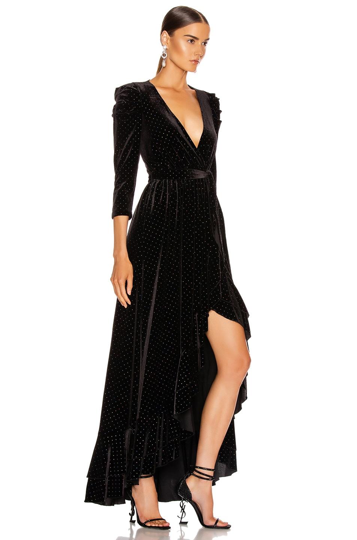 Image 2 of retrofete Flora Dress in Black Multi