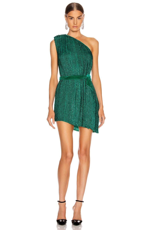 Image 1 of retrofete Ella Dress in Emerald Green