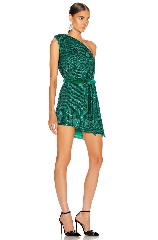Image 2 of retrofete Ella Dress in Emerald Green