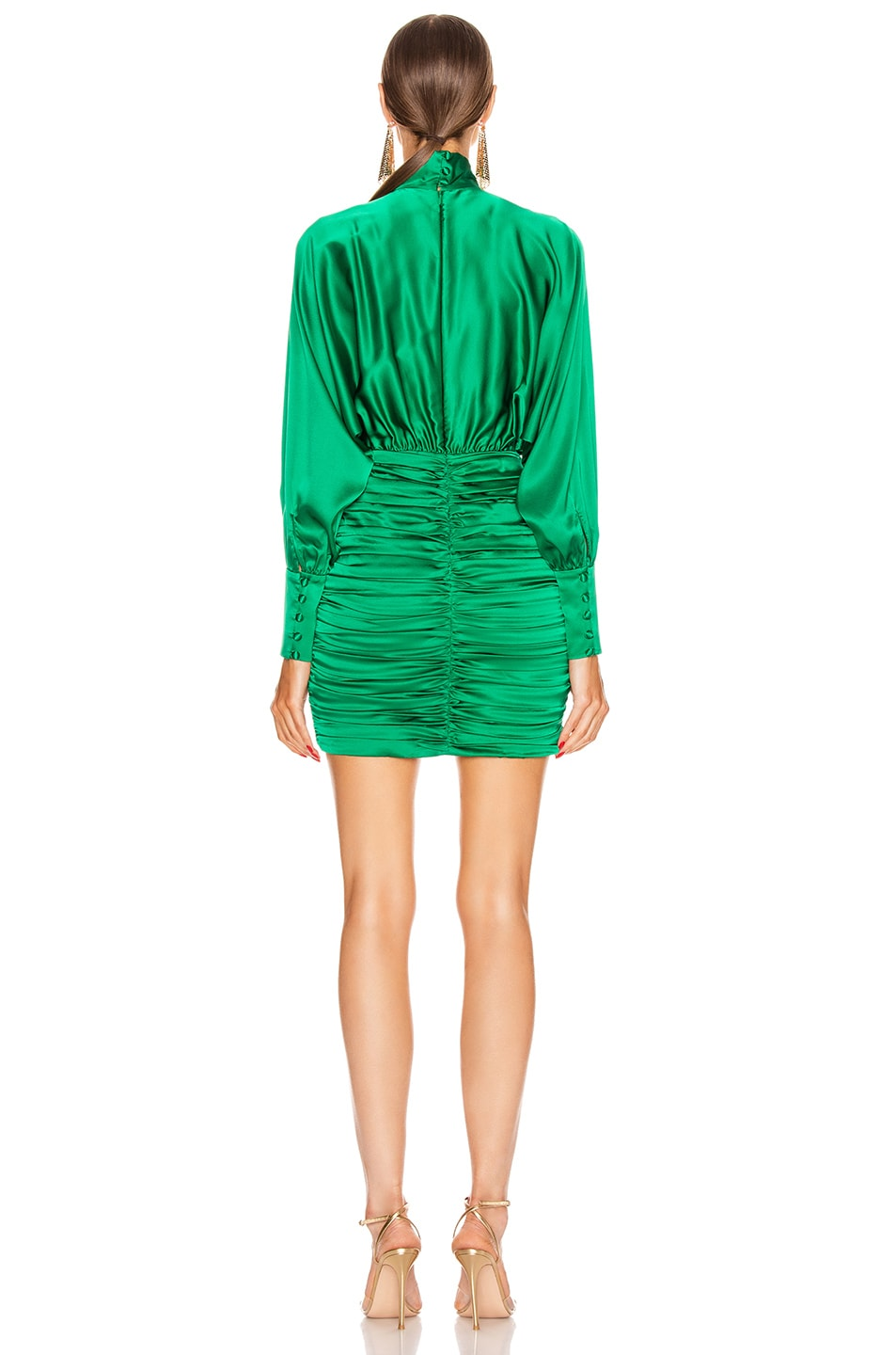 Image 3 of retrofete Barbara Dress in Emerald Green