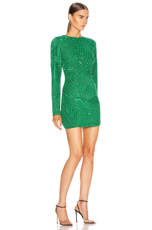 Image 2 of retrofete Ember Dress in Emerald Green