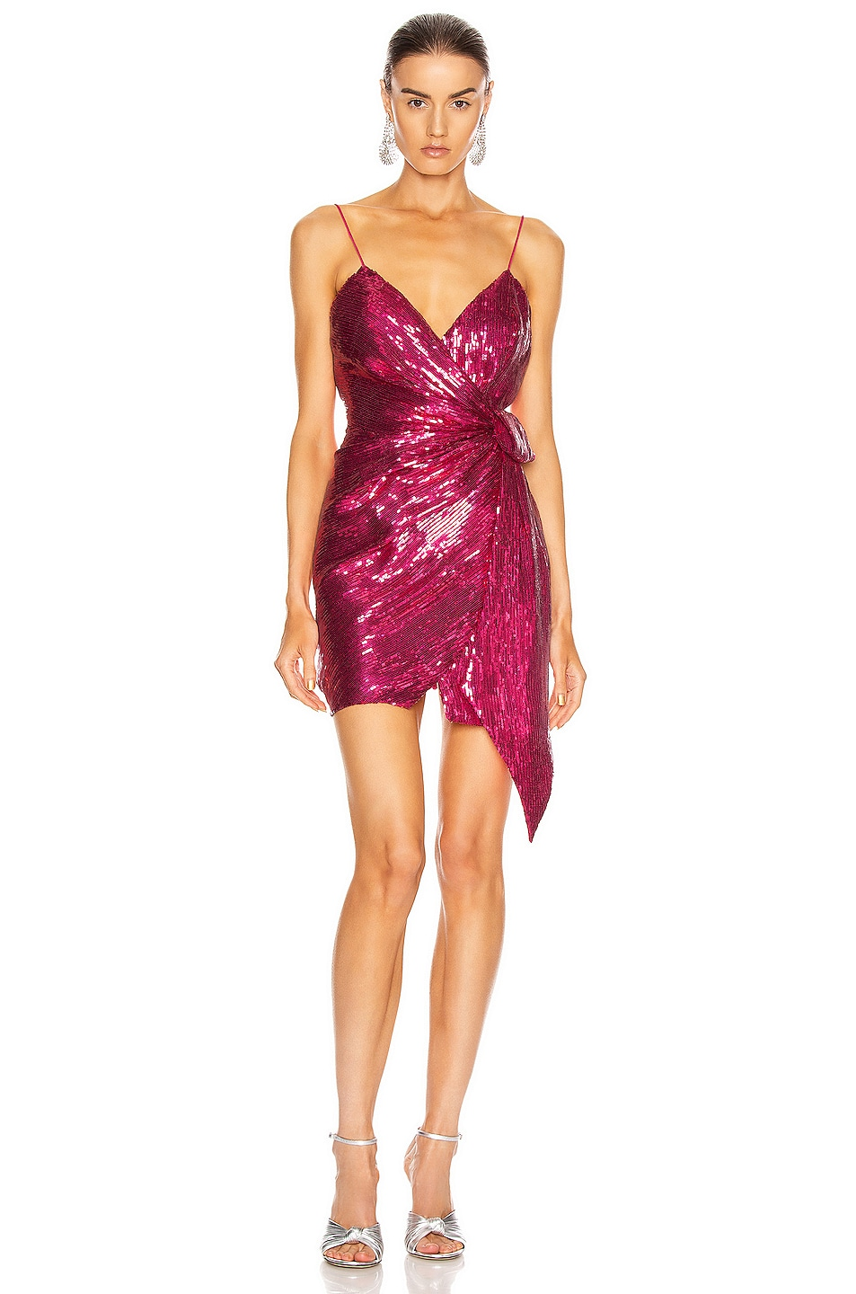 Image 1 of retrofete for FWRD Mary Dress in Fuchsia