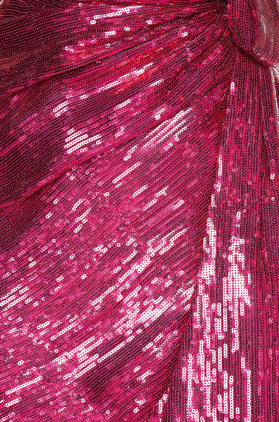 Image 5 of retrofete for FWRD Mary Dress in Fuchsia