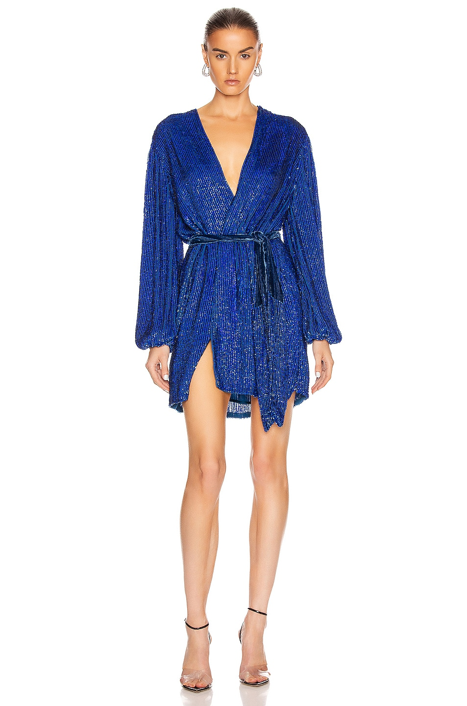 Image 1 of retrofete Gabrielle Robe Dress in Royal Blue