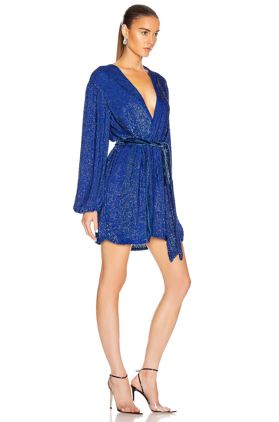 Image 2 of retrofete Gabrielle Robe Dress in Royal Blue