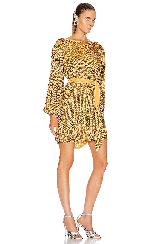 Image 2 of retrofete Grace Dress in Gold