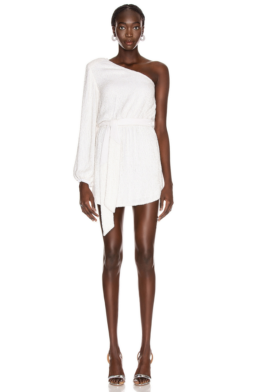 Image 1 of retrofete Bridget Dress in Moonglow White