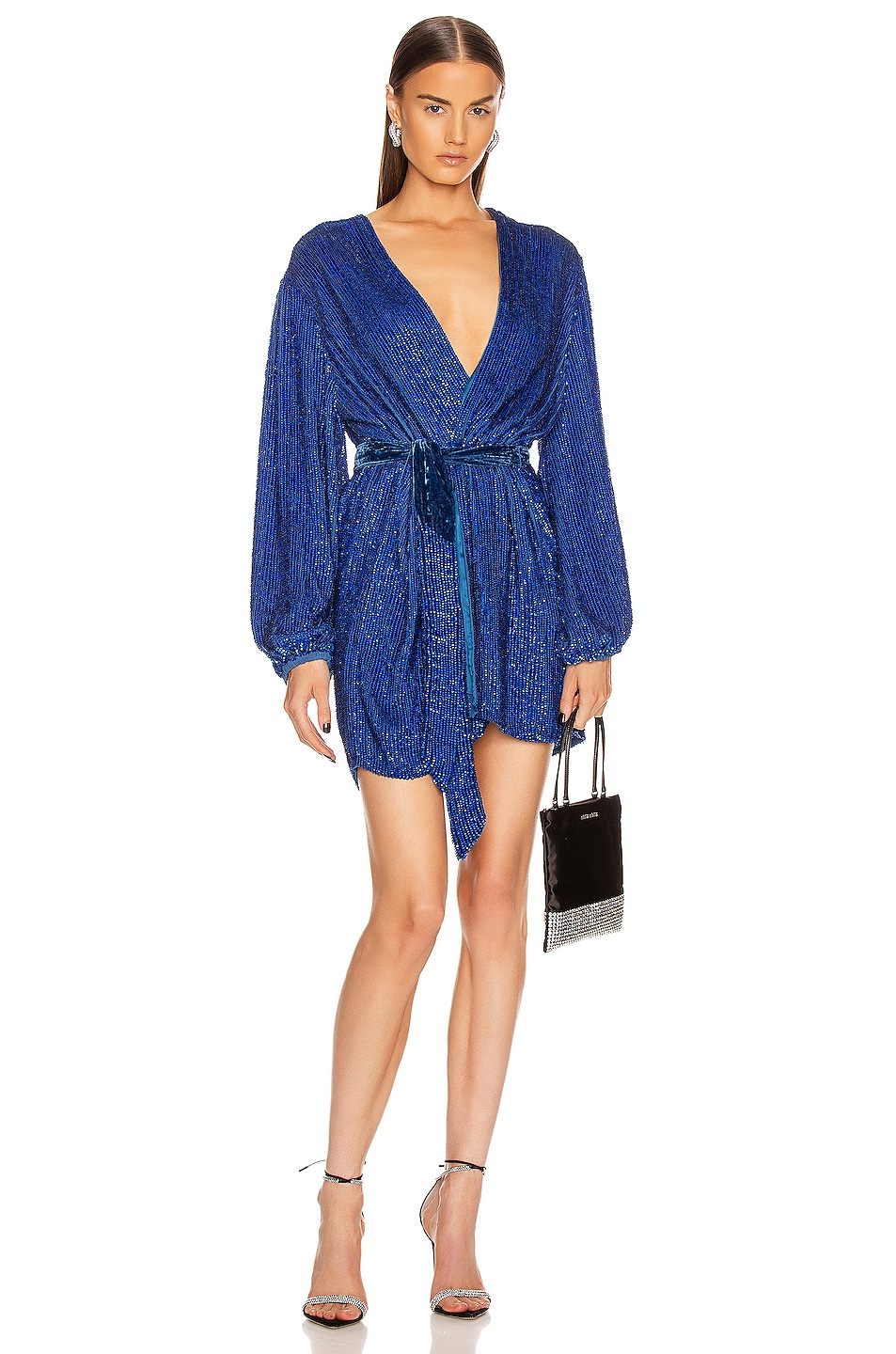 Image 1 of retrofete Gabrielle Robe in Royal Blue