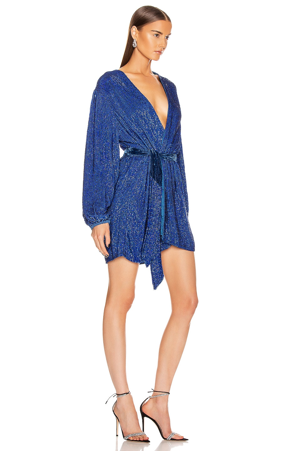 Image 2 of retrofete Gabrielle Robe in Royal Blue