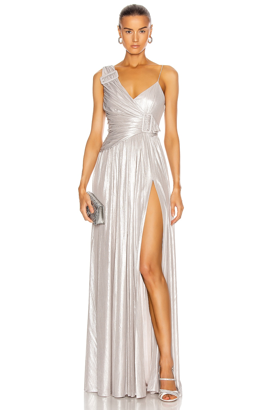 Image 1 of retrofete for FWRD Natalie Dress in Silver