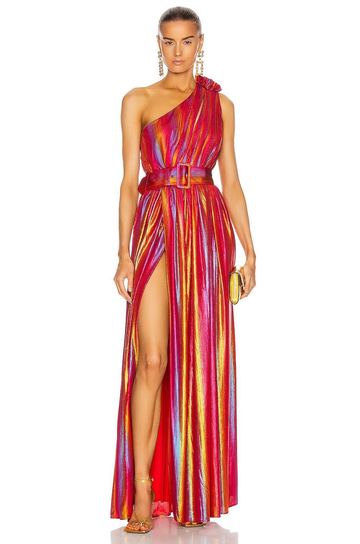 Image 1 of retrofete Andrea Maxi Dress in Rainbow
