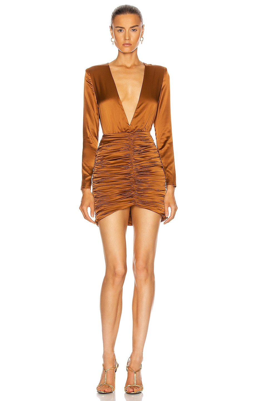 Image 1 of retrofete Brea Dress in Brown