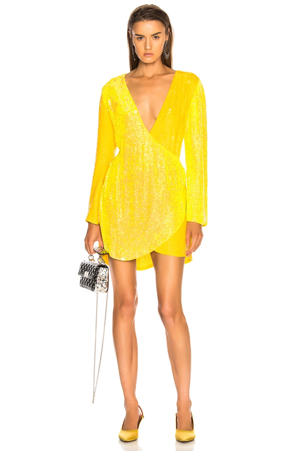 Image 1 of retrofete for FWRD Christine Dress in Yellow Mix