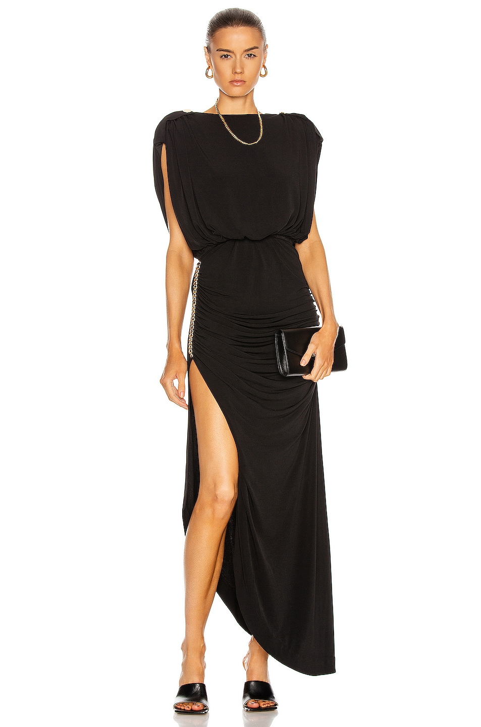 Image 1 of retrofete Florence Dress in Black